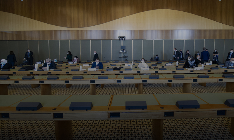 The last day of the fourth round of talks of the Syrian Constitutional Committee in Geneva - December 2020 (the Syrian Negotiations Commission)