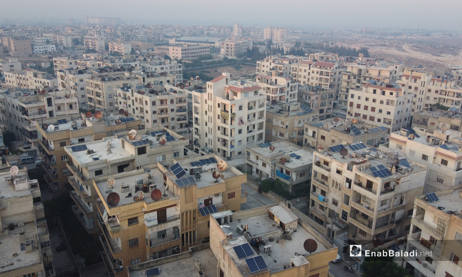The organized streets and buildings in the city of Idlib- 03 September 2020 (Enab Baladi / Yousef Ghuraibi)