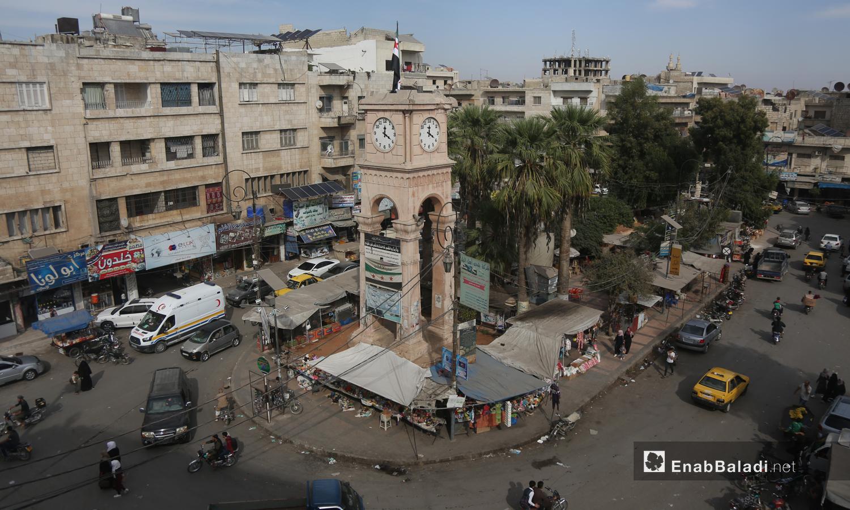 The famous Clock Square in the city of Idlib - 3 September 2020 (Enab Baladi / Yousef Ghuraibi)