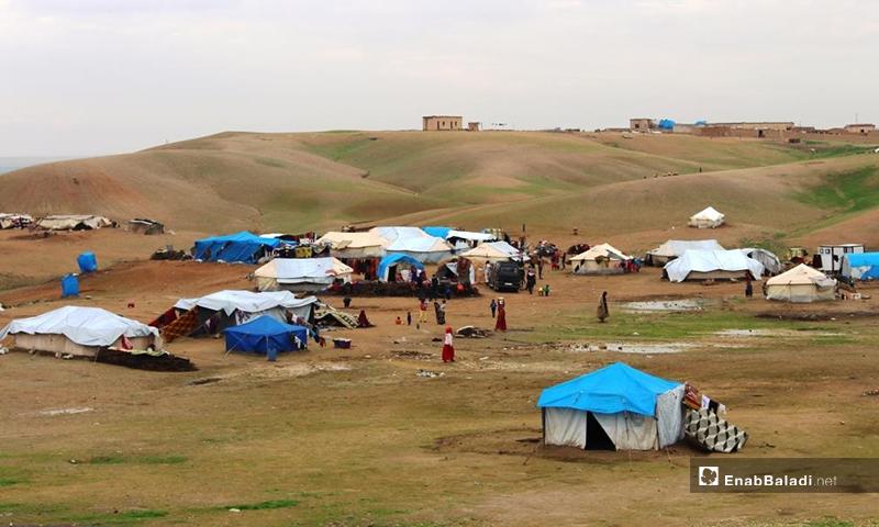 Random camp in the countryside of Raqqa - (Enab Baladi / Hussam Al-Omar)