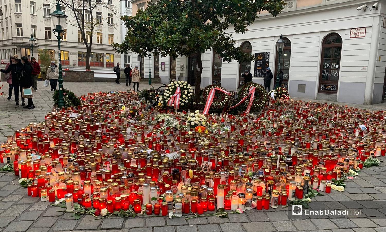 Austrians mourn victims of terrorist attacks in several regions of Vienna- 11 November 2020 (Enab Baladi)