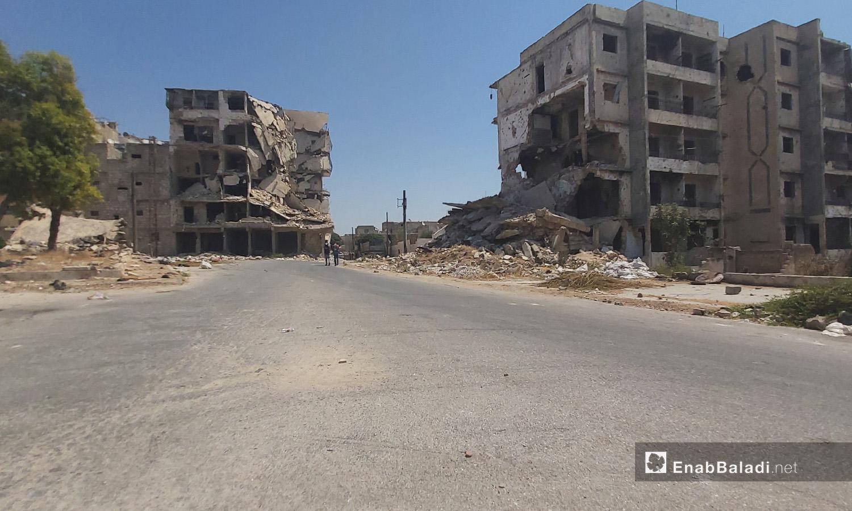 Destruction in Salah Eddin Neighborhood in Aleppo city - 28 August 2020 (Enab Baladi - Aleppo)