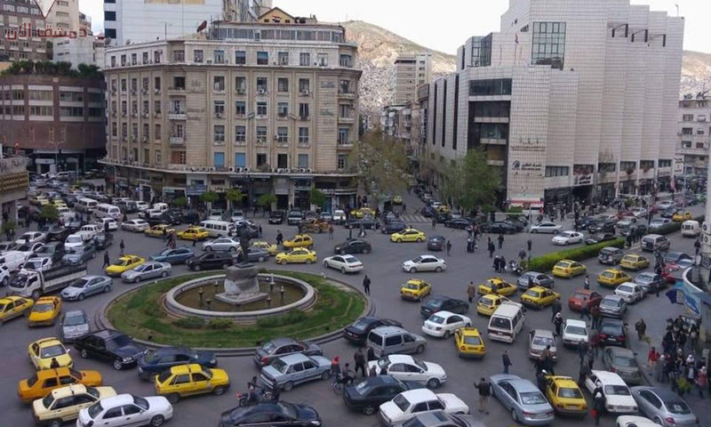 Governorate Square in the city of Damascus (Dimashq. now)
