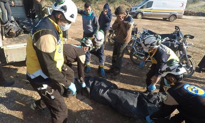 Farmers killed after being targeted by the regime's forces in the al-Ghab Plain - 26 December 2020 (Syrian Civil Defence)