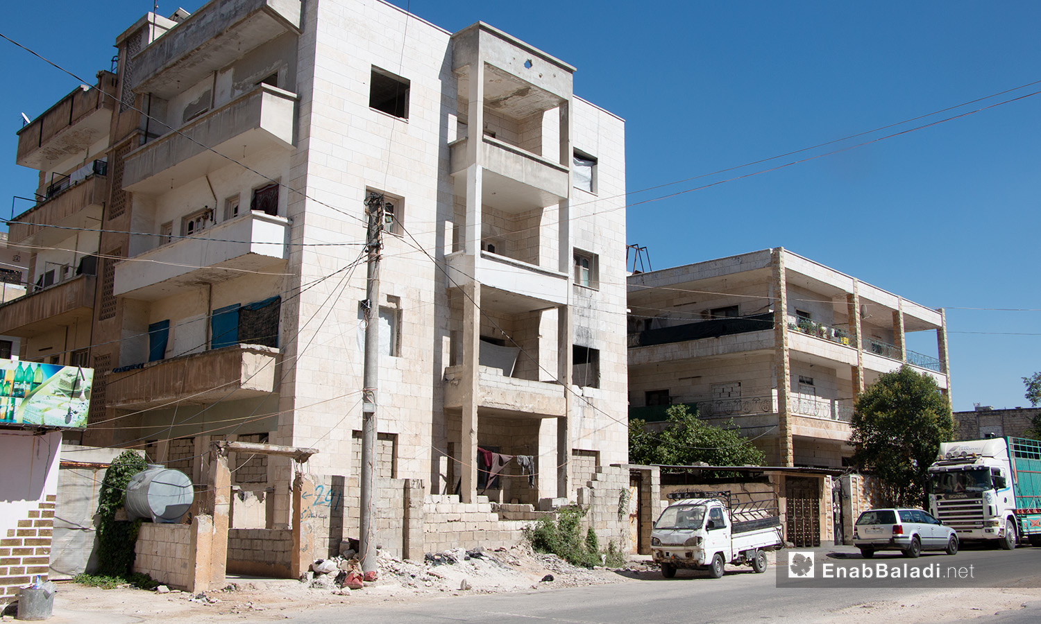 Building in a neighborhood of Idlib - 14 July 2020 (Enab Baladi / Anas Al-Khouli)