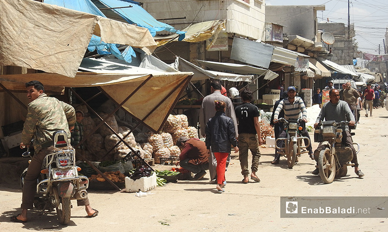 The street markets of Azaz city in the northern Aleppo countryside - 06 May 2018 (Enab Baladi)
