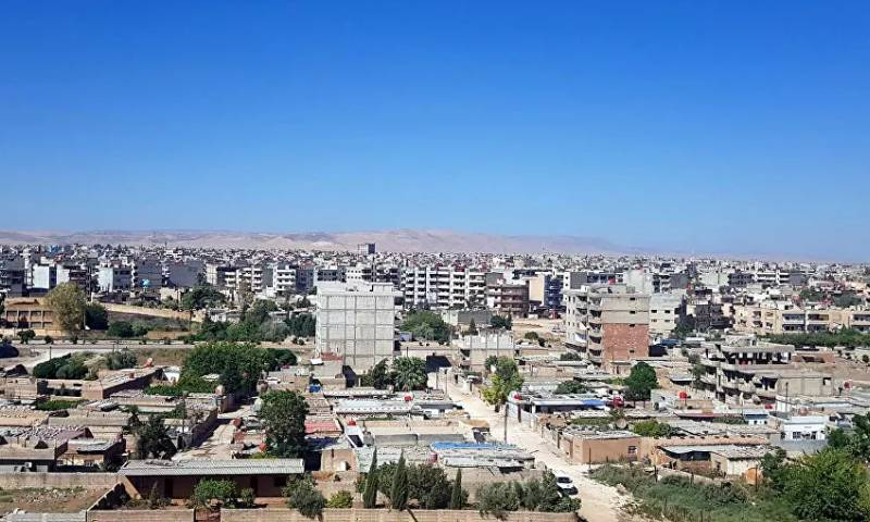 The neighborhoods of al-Qamishli city in northeastern Syria (Sputnik)