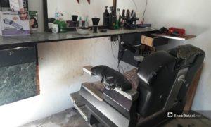 Barbershop in Daraa - January 2021 (Daraa—Halim Muhammad).