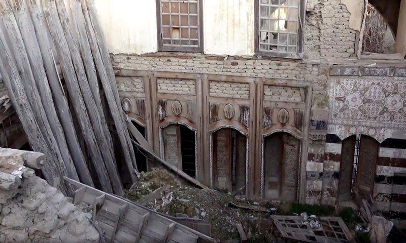 Abandoned Houses in the Jewish Quarter, al Ameen Street in Damascus - 31 December 2020 (al-Watan newspaper)
