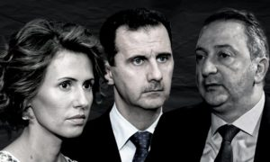 Syria's Central Bank Governor Hazem Karfoul, Asma al-Assad, and Bashar al-Assad - 24 December 2020 (edited by Enab Baladi)