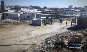 Syrian refugee camps in Arsal town in the far northeast of the Lebanese Beqaa governorate after the snowstorm that hit the town - 21 January 2021 (Enab Baladi)