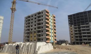The implementation project of six towers as part of the housing savings schemes in the al-Wafaa Suburb in Hama governorate (Syria's Ministry of Public Works and Housing)