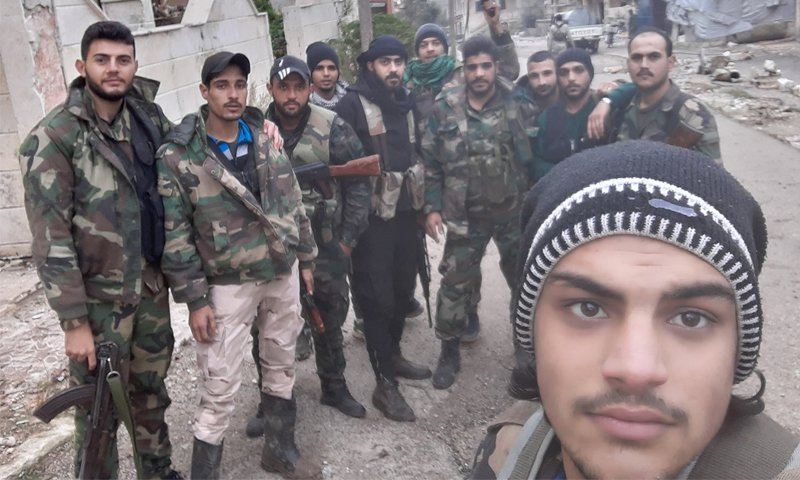 Militants of the 4th Armoured Division, affiliated with the Syrian regime, in Daraa — 1 October 2020 (Al-Ghaith group of the 4th Division's Facebook page)