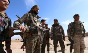 SDF fighters on the outskirts of al-Hasakah city —2017 (Reuters)