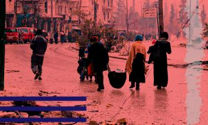 Civilians from Aleppo's eastern neighborhoods who were forcibly displaced from their properties after the Syrian regime regained control of the region - December 2016 (edited by Enab Baladi)