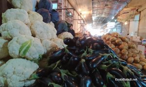 Vegetables displayed for selling in the vegetable market in al-Raqqa city - 15 January 2021 (Enab Baladi / Hussam al-Omar)
