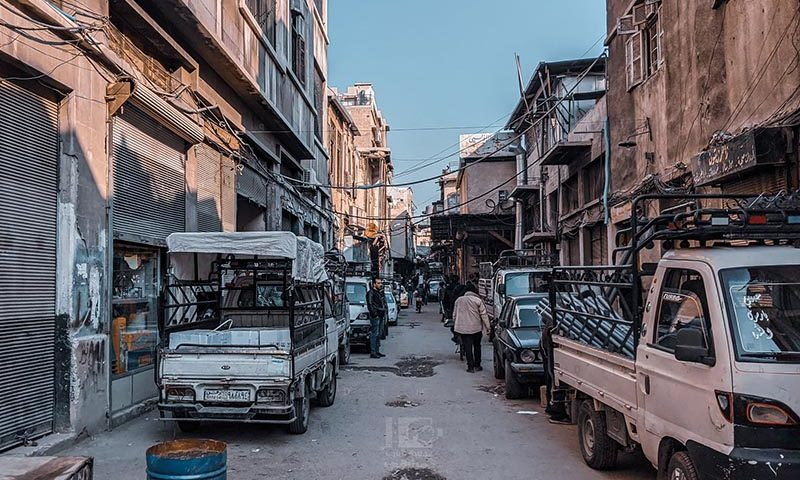 A street in the old city of Damascus - 04 December 2020 (Lens Young Dimashqi)