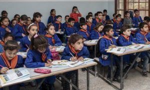 Children attending a class in Syria (UNICEF)