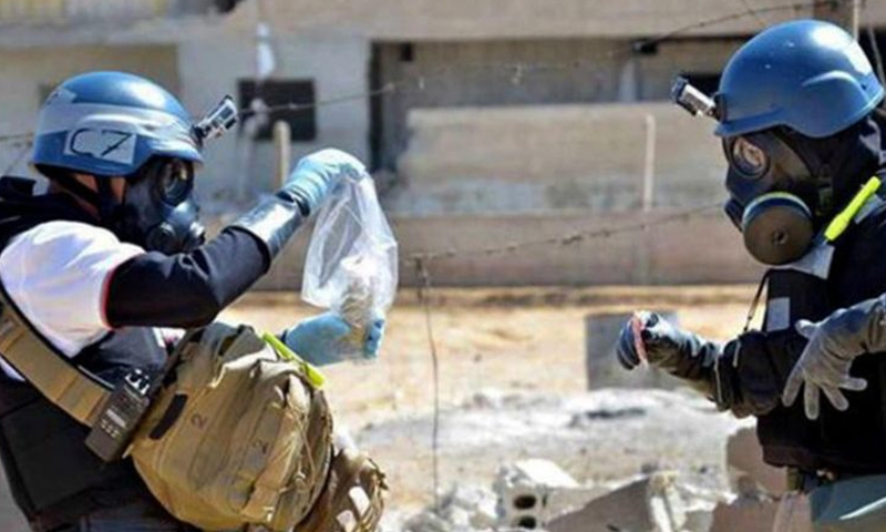 Organization for the Prohibition of Chemical Weapons (OPCW) elements in Eastern Ghouta - 2013 (AFP)