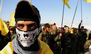 Shi'ite militias in Iraq, near the Syria border strip – 2015 (AP)