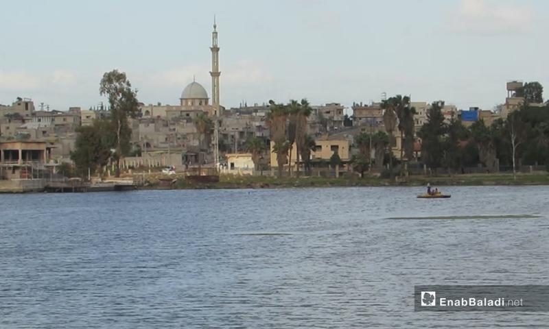 Lake Muzayrib in the western countryside of Daraa - April 2021 (Enab Baladi / Halim Muhammad)