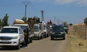 Locals from al-Lajat area return home after being forcibly displaced for three years