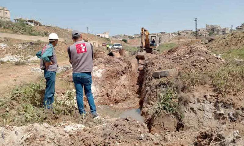 Sanitary repair work in Daraa al-Balad - April 2021 (Daraa Governorate Council)