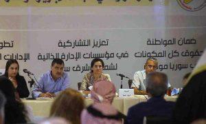 A political seminar for the Syrian Democratic Council (SDC) in al-Qamishli - October 2020 (North Press Agency)