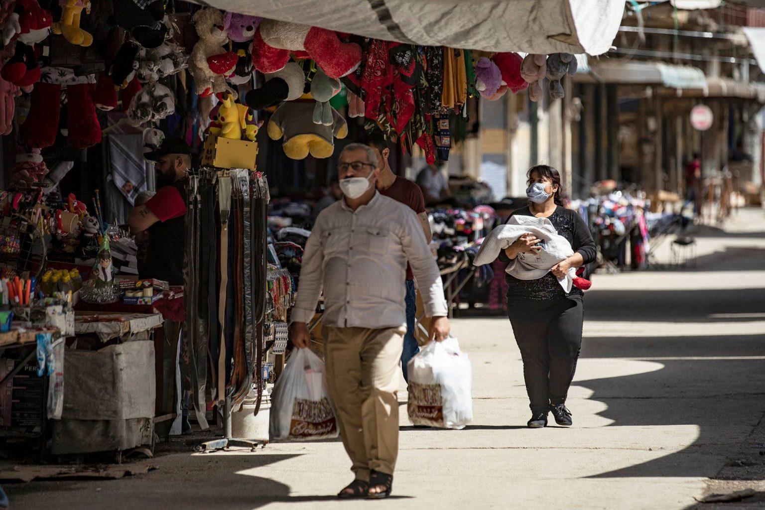 A marketplace in Ramadan in Qamishli city, northeastern Syria (Dalil Slaiman/ AFP)