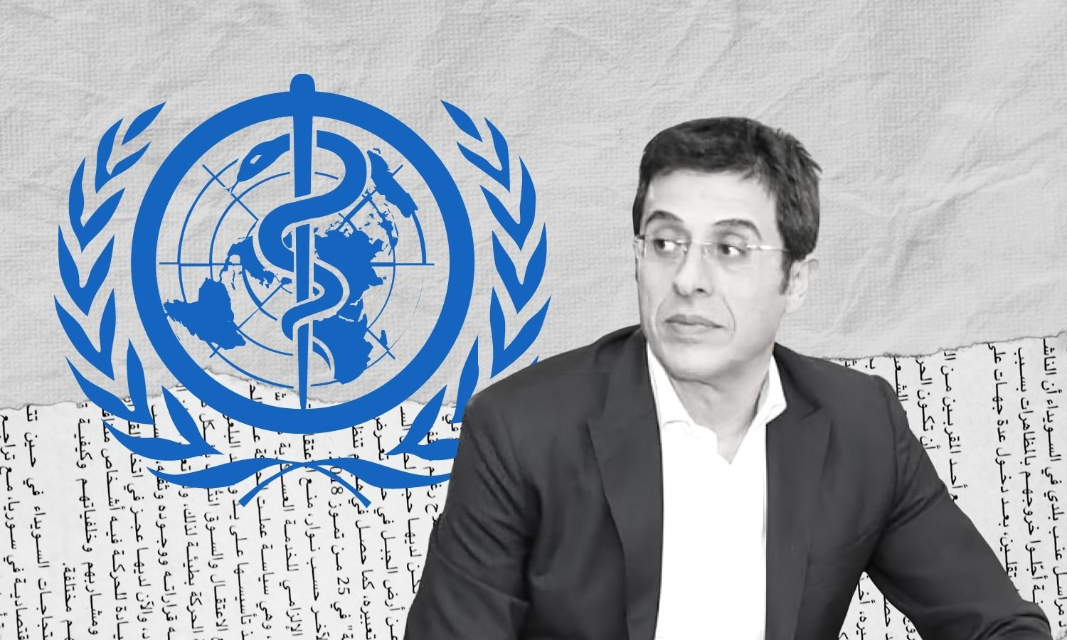 The Syrian government's Minister of Health Hassan Ghabbash (edited by Enab Baladi)