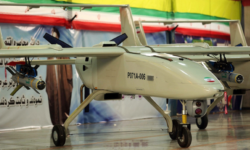 The latest version of the Iran-developed Mohajer UAVs (IRNA)