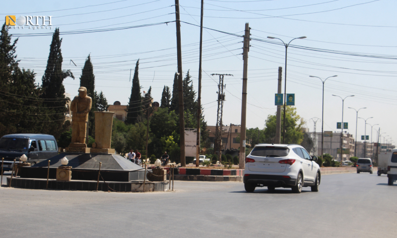 The Sanitary Workers Roundabout, central Manbij (North Press)