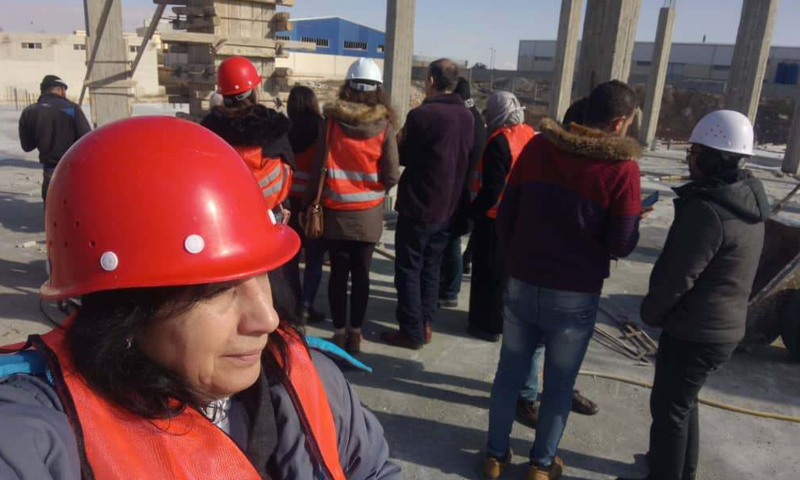 Trainee engineers visiting a construction site in Homs - September 2020 (Syrian Engineers Association - Homs branch)