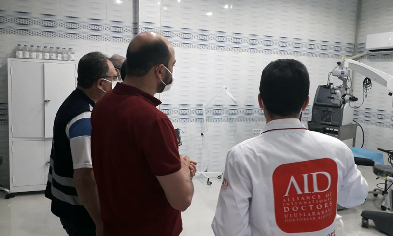Opening an ophthalmology center in the city of Sarmada, north of Idlib- 15 June (Idlib Health Directorate)