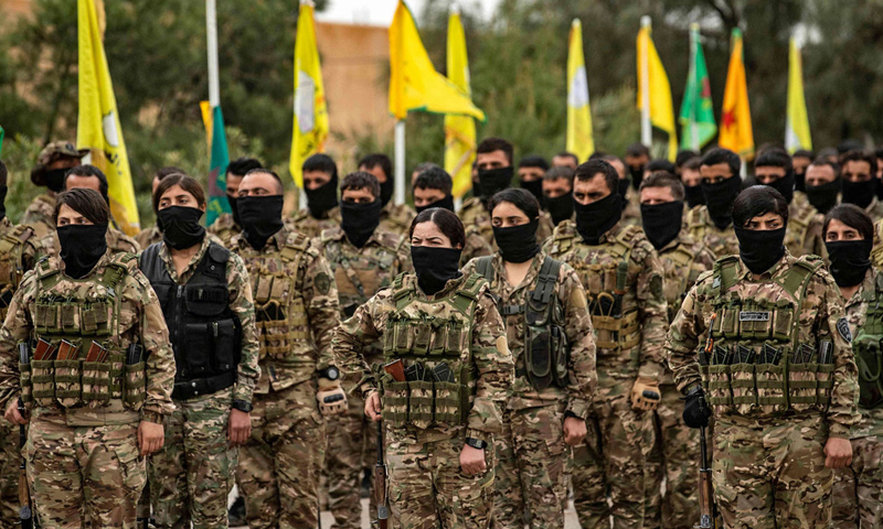 Kurdish-led Syrian Democratic Forces - 23 March 2021 (AFP)