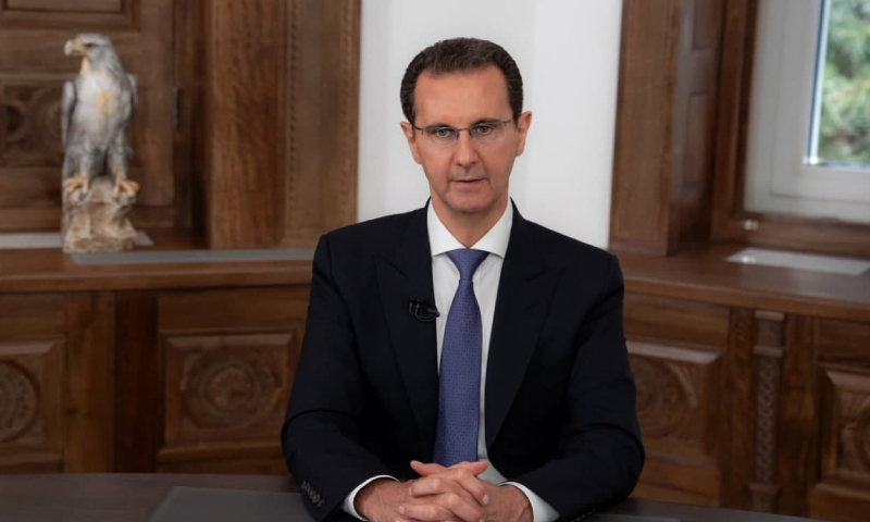 Head of the Syrian regime Bashar al-Assad during a speech after announcing his victory in the elections - 28 May 2021 ( Presidency of the Syrian Republic)