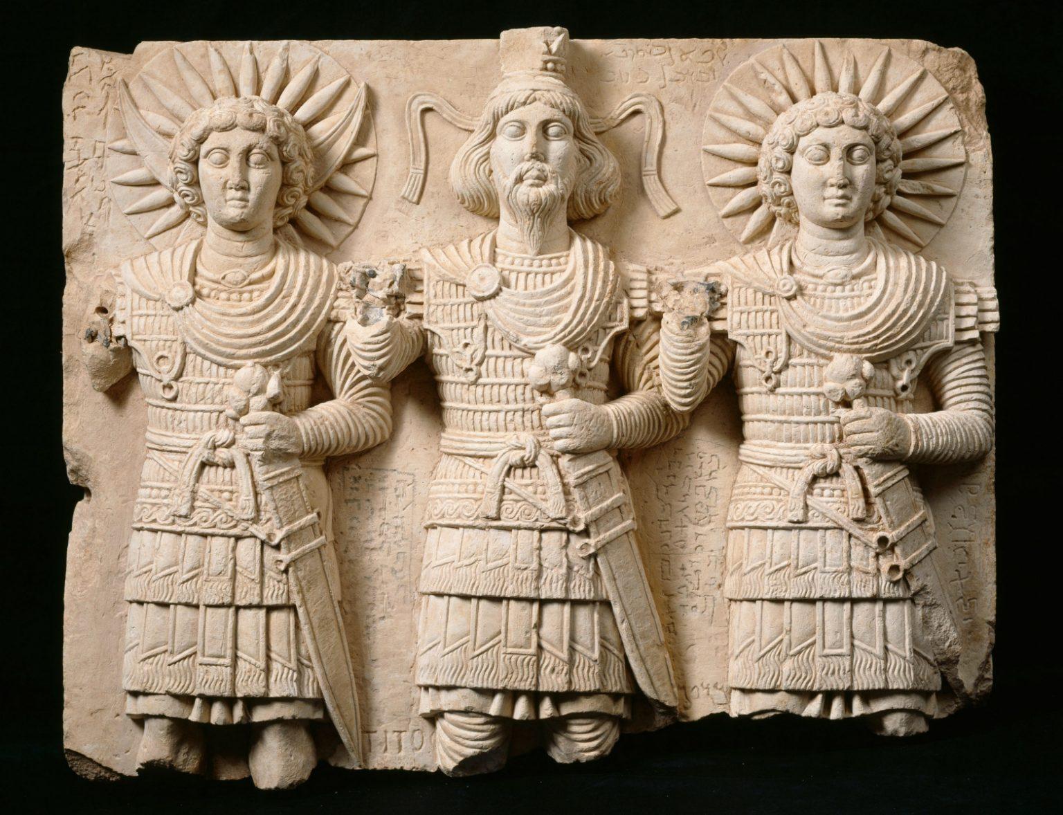 The trinity of the god Baal Shamin
