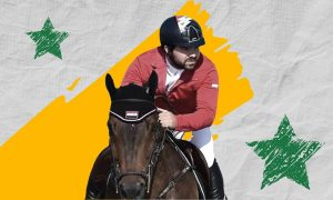 Jockey Ahmad Saber Muhammad Hamsho (Edited by Enab Baladi)