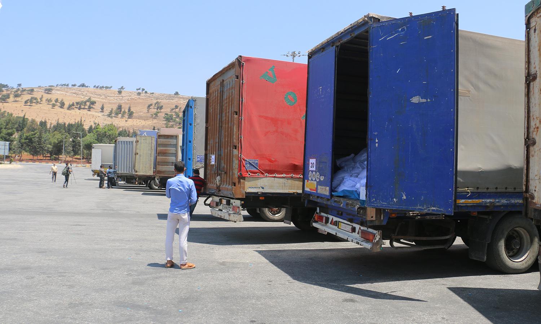 The last humanitarian aid convoy entering Syria through the Syria-Turkey Bab al-Hawa Border Crossing – 9 June 2021 (Enab Baladi/Walid Othman)