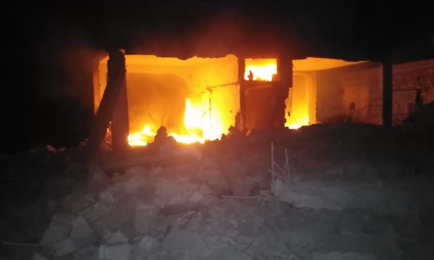One of the houses destroyed by the 8th Brigade's fighters in Daraa – 7 July 2021 (Free Horan League- Facebook)