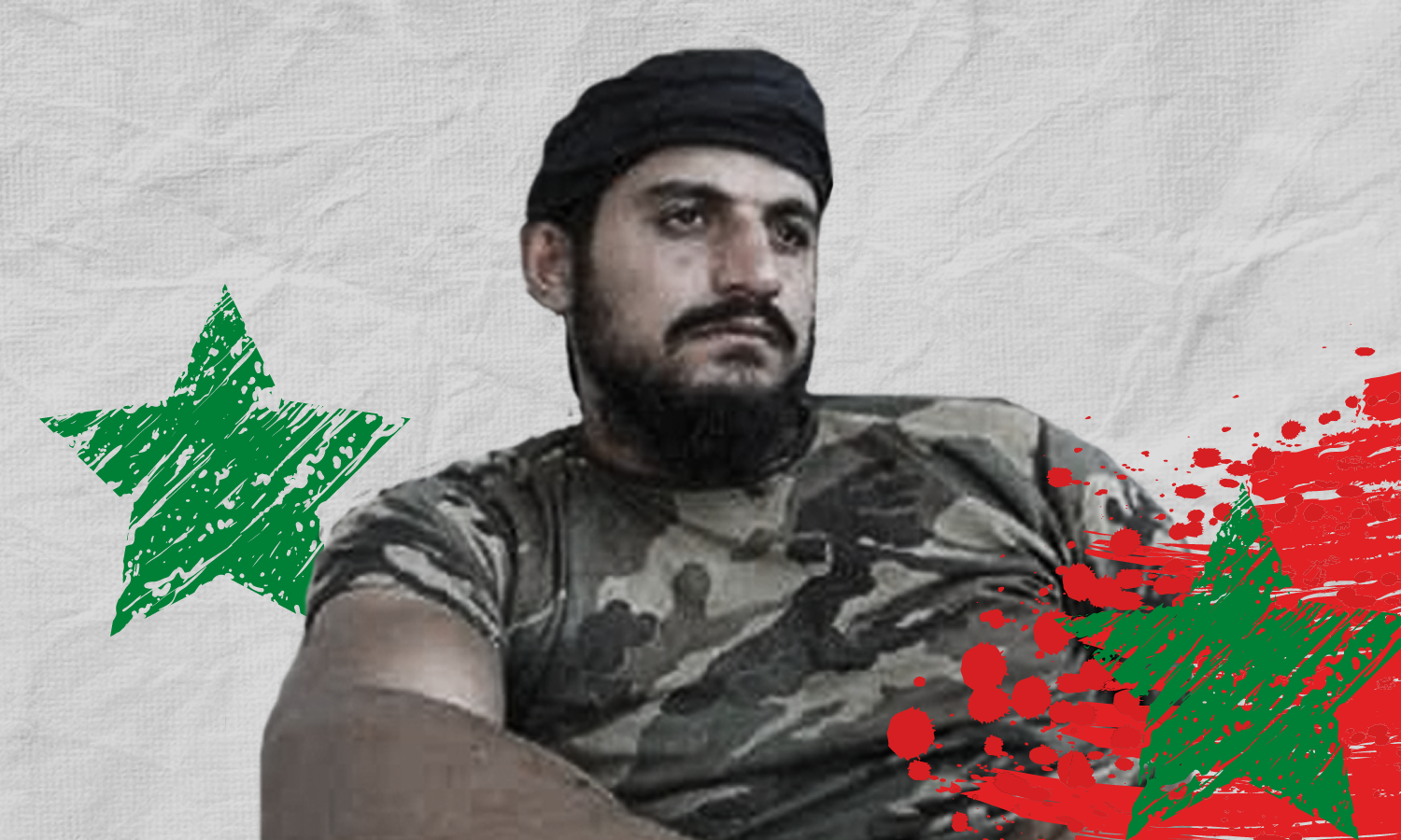Mustafa al-Masalmeh, a commander within the ranks of the regime's Military Security Branch (Edited by Enab Baladi)
