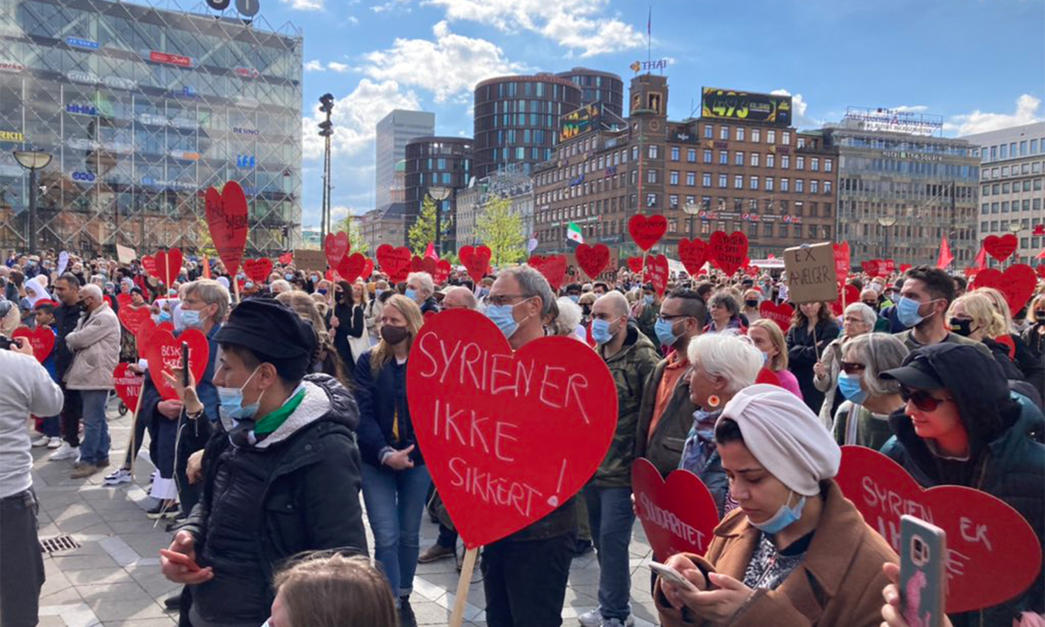Rallies across Denmark against the decisions to deport Syrian refugees to Syria —19 May 2021 (Tim Whyte)