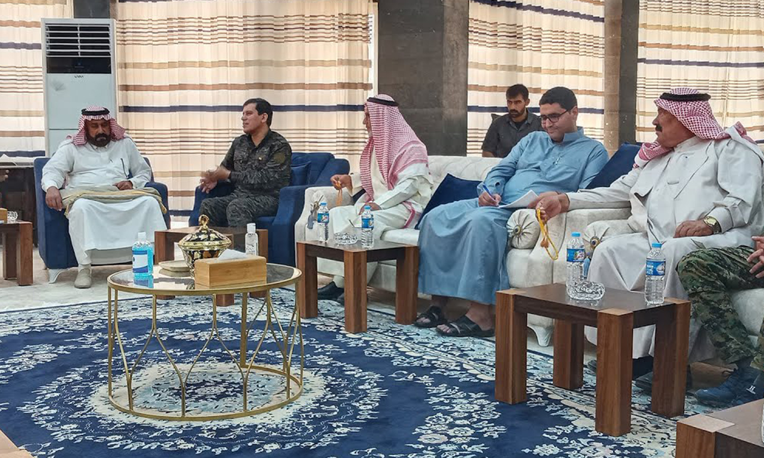 A delegation of the notable members of the Deir Ezzor tribes - 15 July 2020 (npasyria)