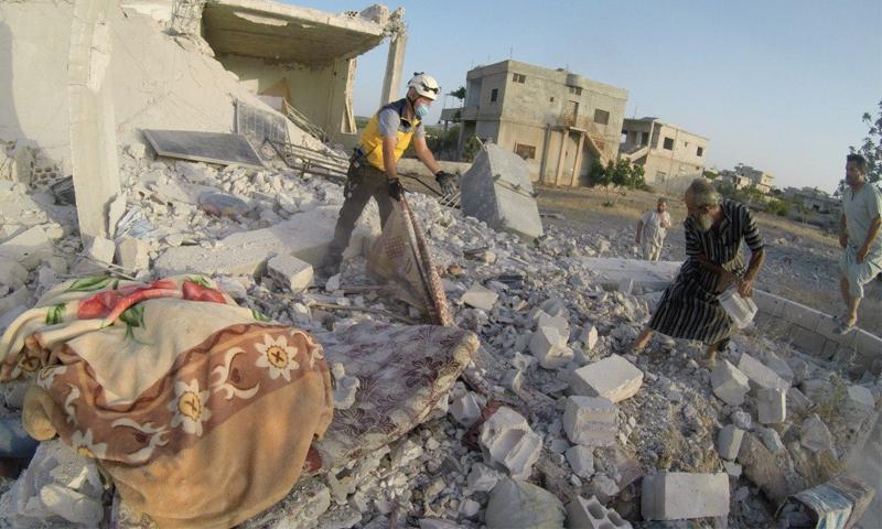 Syrian regime's attack on Jabal al-Zawiya- 3 July 2021 (Syrian Civil Defence)