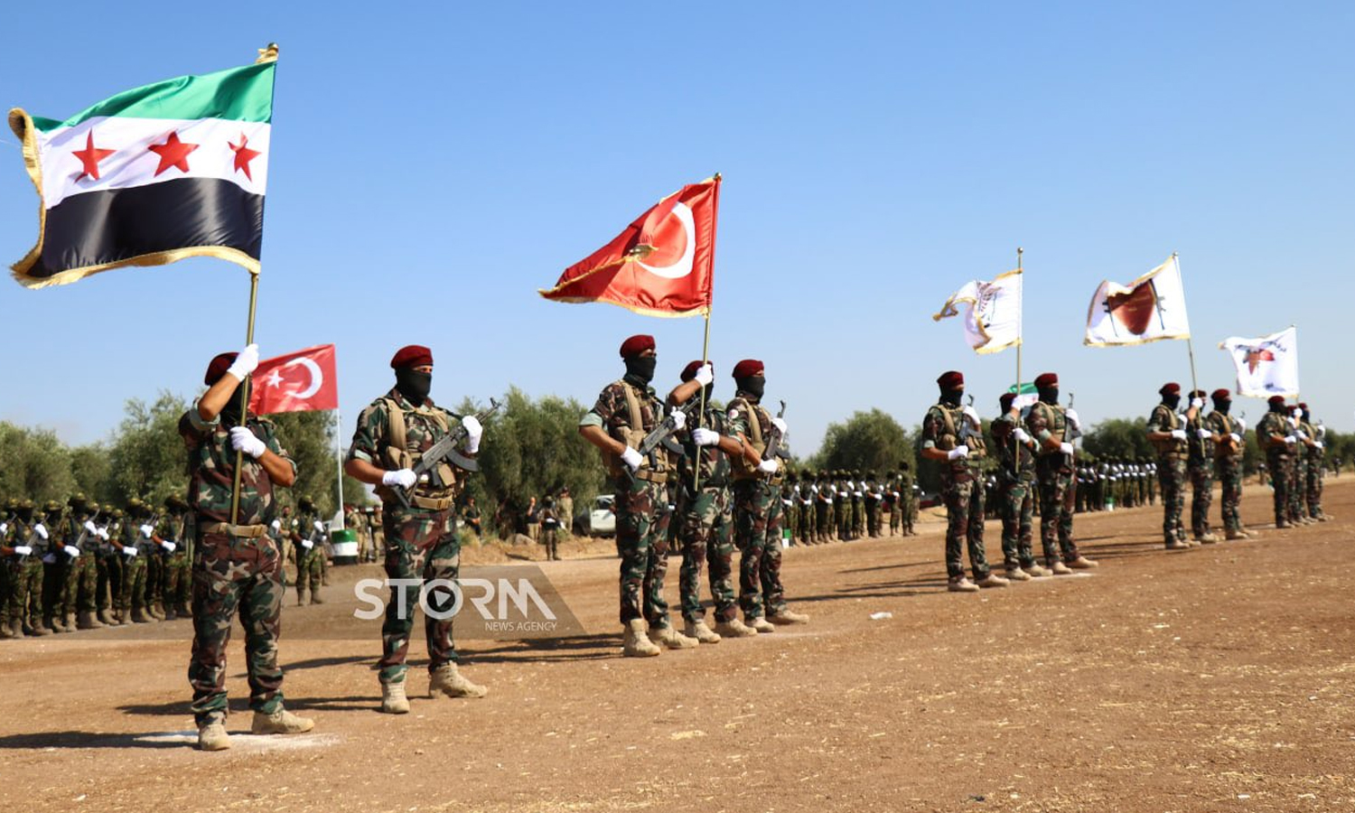 Graduation of fighters of the Syrian National Army (SNA's) Military Training Program the Wolves of the North – 7 July 2021 (Storm News Agency)