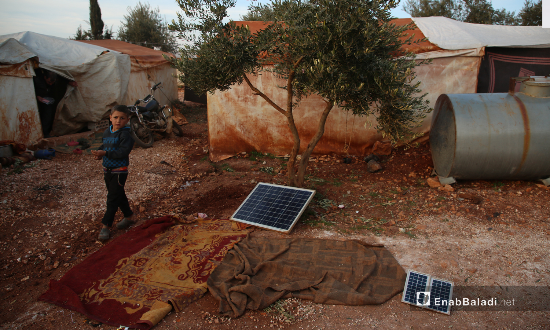 Solar panels in the displacement camp of Killi - 8 January 2021 (Enab Baladi-Youssef Ghribi)