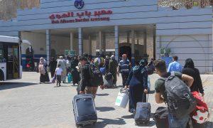Syrians entering the Bab al-Hawa border crossing to spend the Eid al-Adha holiday in Syria - 15 July 2021 (the Bab al-Hawa Border Crossing official Facebook account)