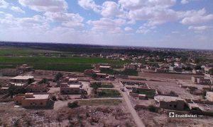 An aerial image of the al-Baghouz town in the eastern countryside of Deir Ezzor - 18 March 2021 (Enab Baladi / Hussam al-Omar)