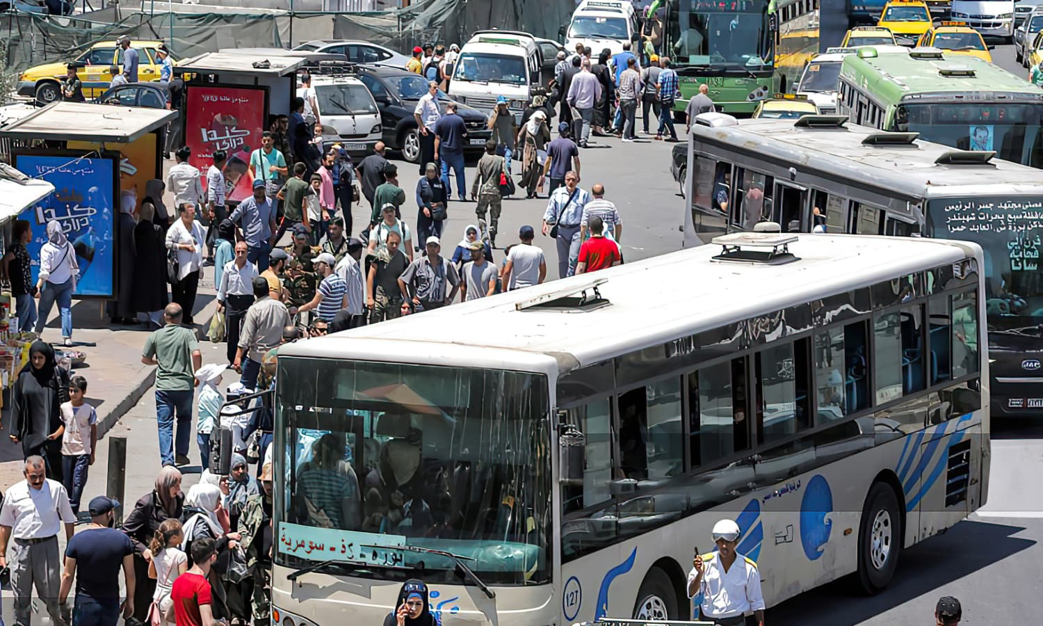 A transportation crisis in the aftermath of the increased fuel prices in the capital city Damascus (AFP).
