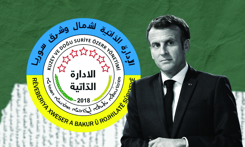 French President Emmanuel Macron (Edited by Enab Baladi)